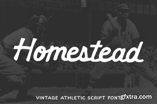 CreativeMarket Homestead - Vintage Athletic Script 2440117