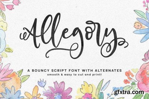 CreativeMarket Allegory: A Fun And Bouncy Script 2461462