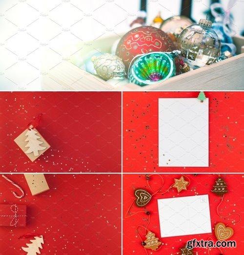Stock Photos - Christmas greeting postcard mockup