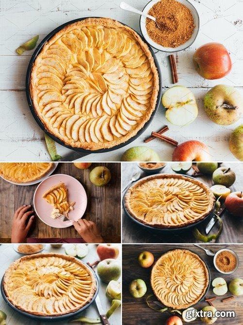 Stock Photos - Homemade apple pie tart