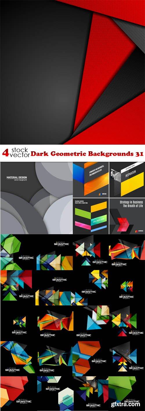 Vectors - Dark Geometric Backgrounds 31