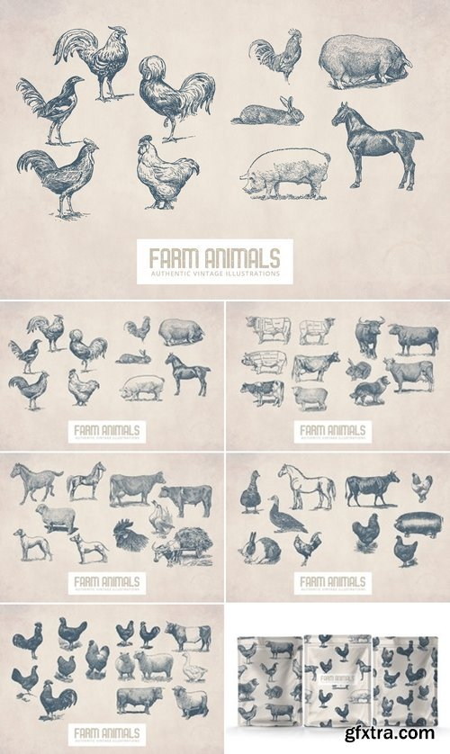 CM - 55 Vintage Farm Animals 2893591
