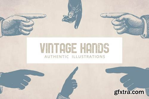 Vintage Hands Illustrations