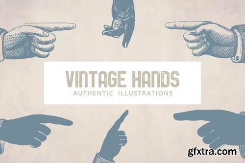 Vintage Hands Illustrations