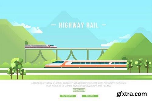 CM - Highway Rail - Vector Landscape 2907308