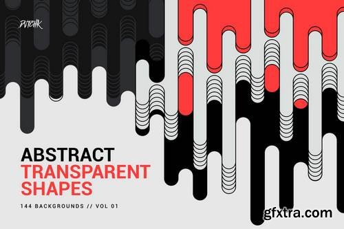 Abstract Transparent Rounded Shapes   Vol. 01