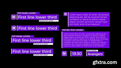 Clean Lower Thirds - After Effects 114694