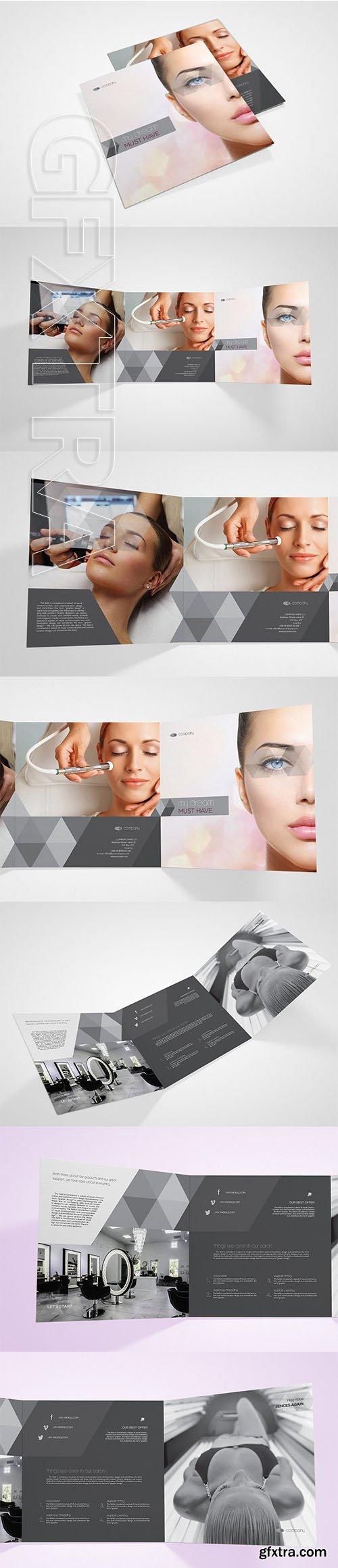 CreativeMarket - Beauty Salon Square Brochure 2798623