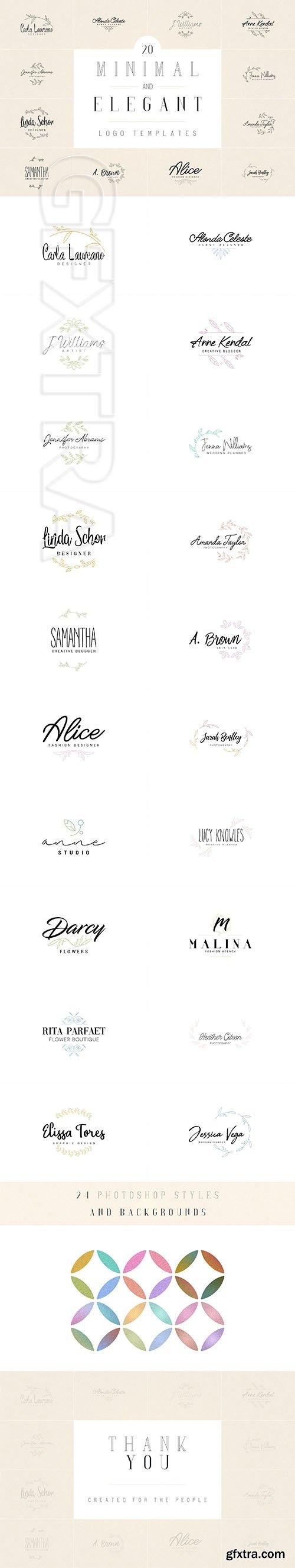 CreativeMarket - 20 Minimal and Elegant Logos 2780190