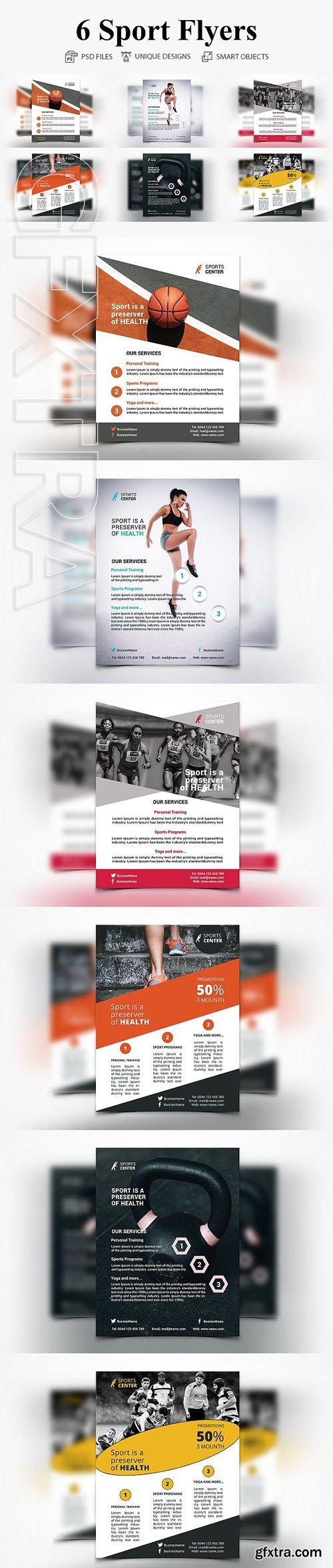 CreativeMarket - 6 Sport Flyers 2793216