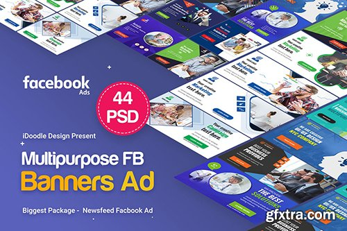 Multipurpose Facebook Banner Ads - 44 PSD