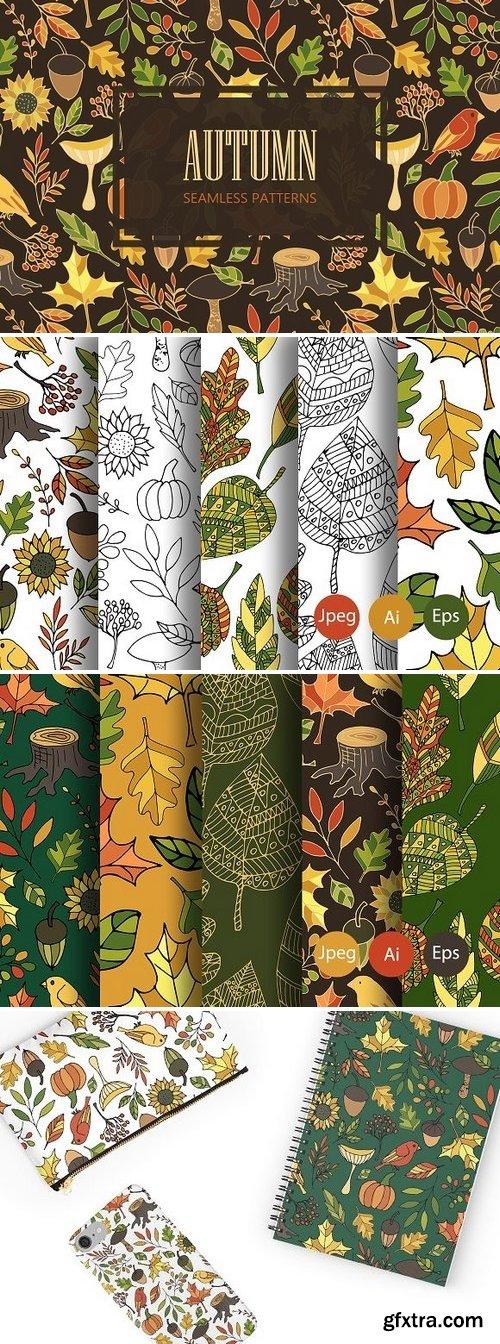 CM - Autumn. Seamless patterns 1788302