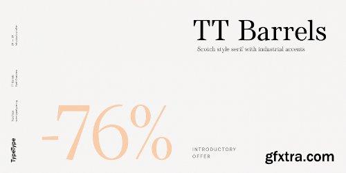 TT Barrels Font Family - 12 Fonts