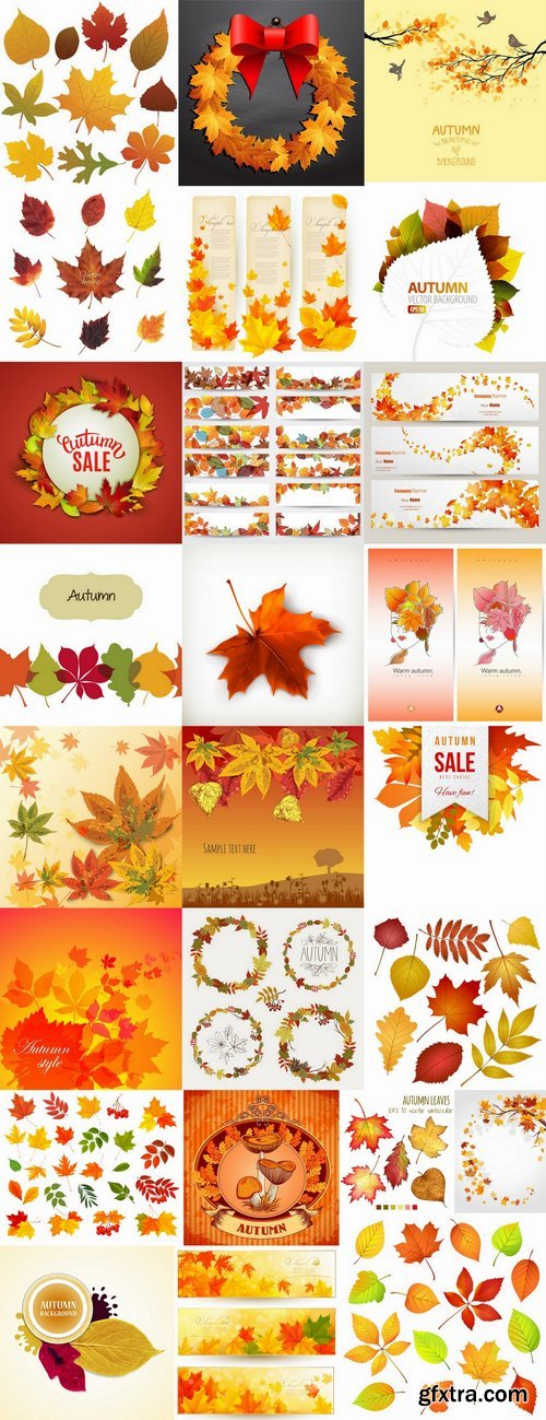 Autumn background is a picture poster flyer banner leaf tree 25 EPS