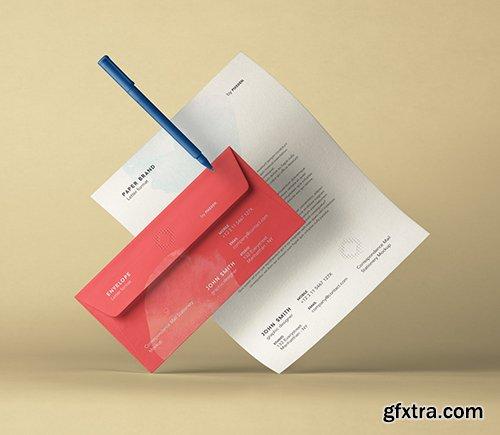 Stationery Psd Envelope Letterhead Mockup