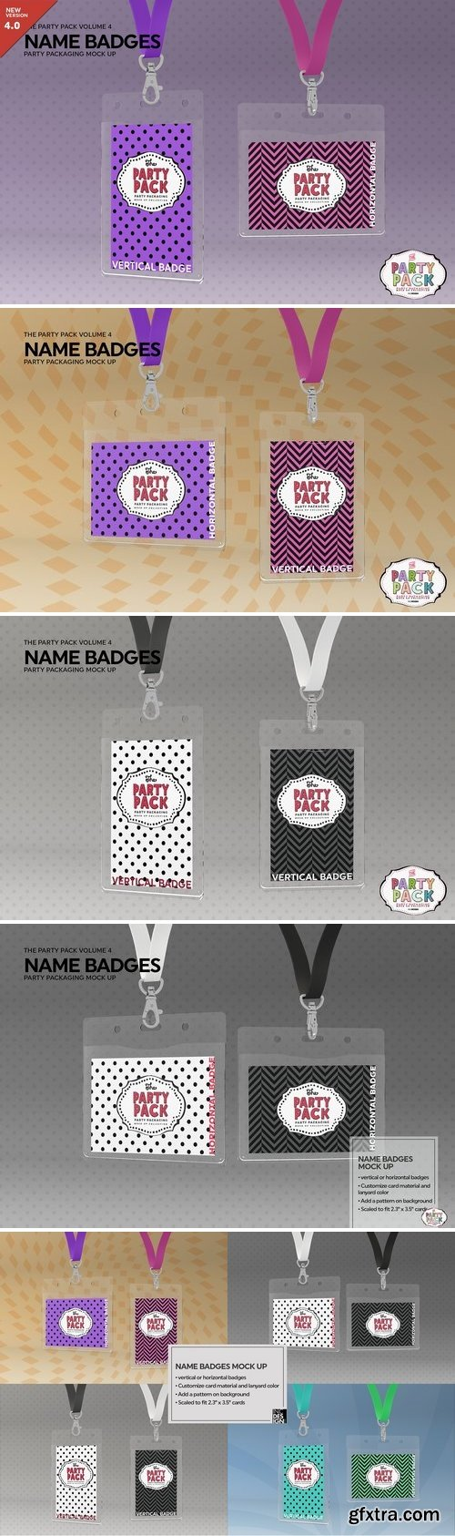 CM - Name Badges with Lanyards Mock Up 2199329