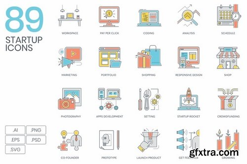 Startup Bundle 800+ Icons