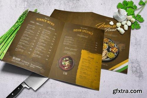 Indian Food Menu A4 & US Letter - Bifold
