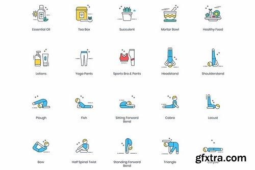 60 Yoga Modern Icons