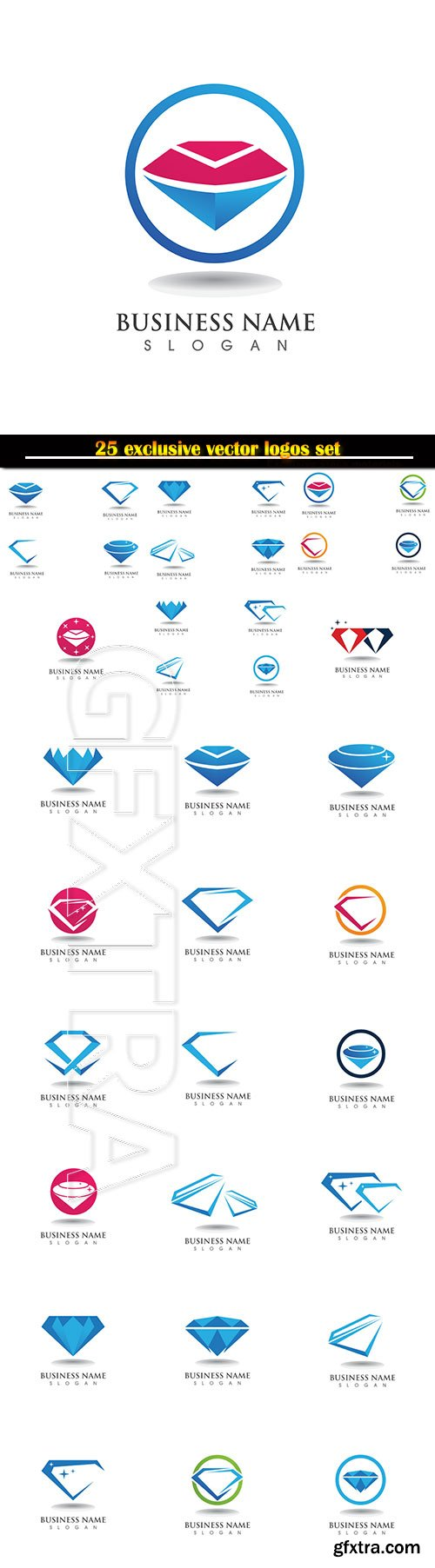 Logo business vector illustration template # 128