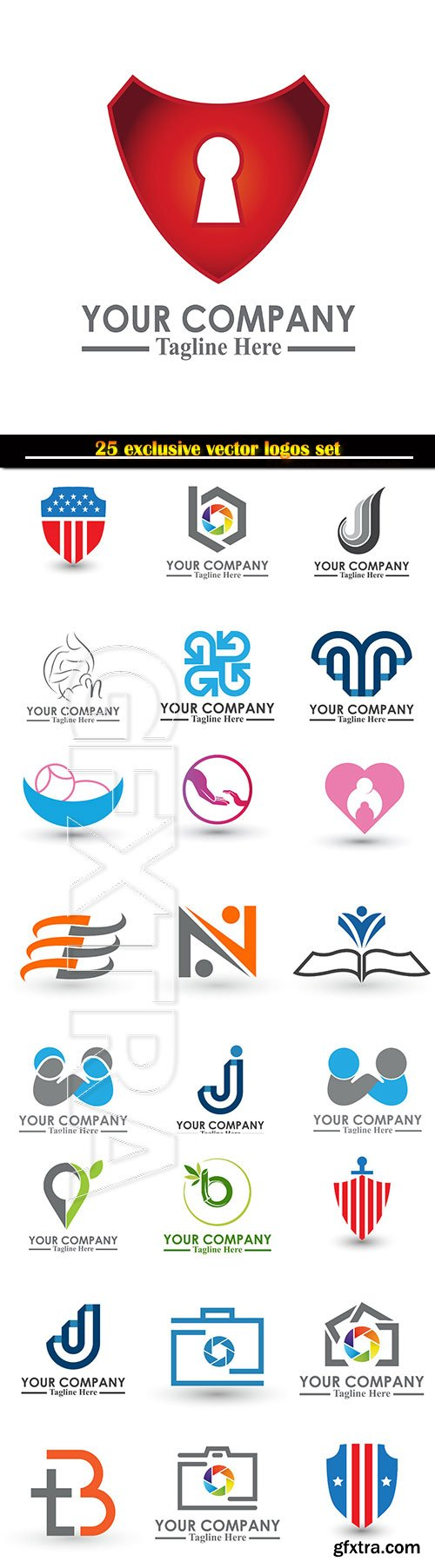 Logo business vector illustration template # 131