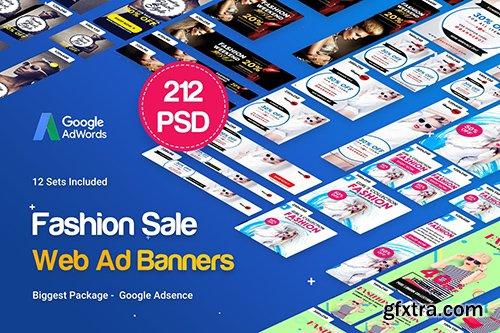 Fashion Banner Ad - 212 PSD [12 Sets]