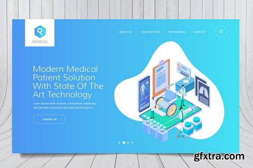 Medical Web Header PSD And Vector Template Vol. 04