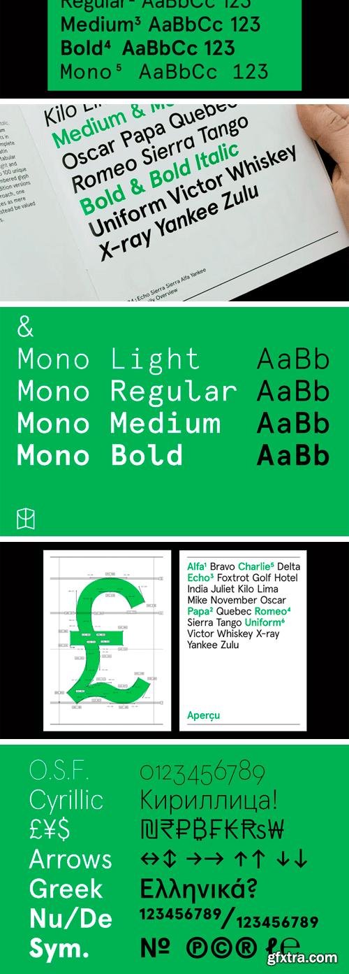 Apercu Pro Font Family (2018 Updated)