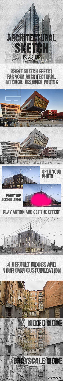 GraphicRiver - Architectural Sketch Photoshop Action 22535007