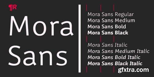 Mora Sans Font Family - 8 Fonts