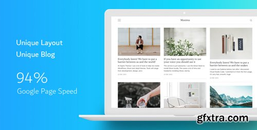 ThemeForest - Maxima v1.2.2 - Minimal Blog and Magazine Ghost Theme - 19143684