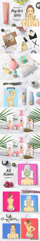 CreativeMarket - Pop Art Girls 2895066