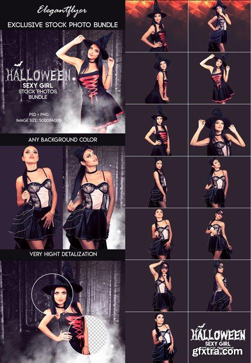 Halloween Sexy Girl Stock Photos Bundle V6 2018