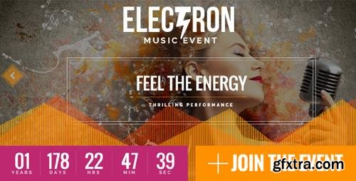 ThemeForest - Electron v1.5.1 - Event Concert & Conference Theme - 14865695