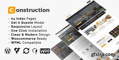 ThemeForest - Construction v3.4 - Construction And Building Business WordPress Theme - 19587003