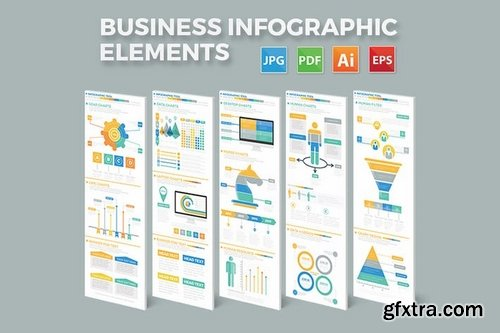 Business Infographics Elements Design  Pack