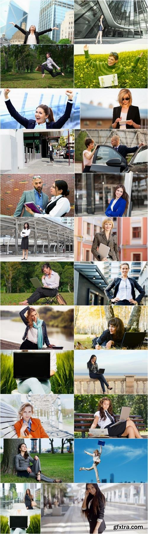 Business ladies girl woman on the nature of the field relaxation holiday 25 HQ Jpeg