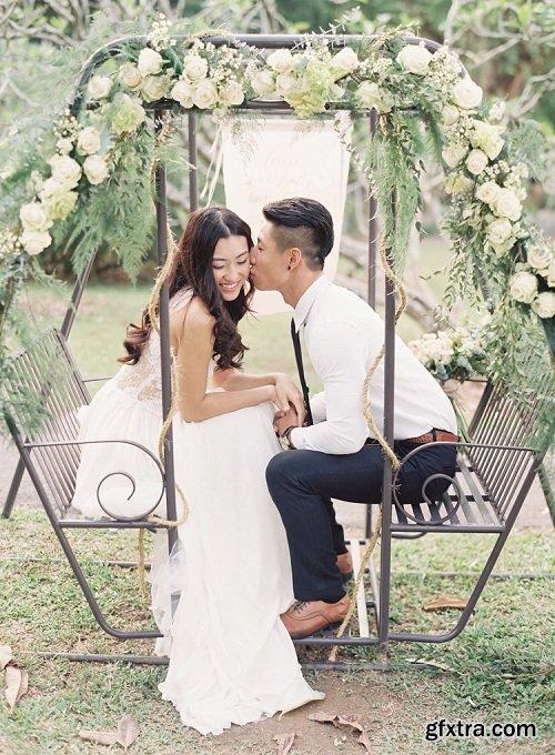 Caroline Tran - Wedding Shoot: Bride and Groom Look #1