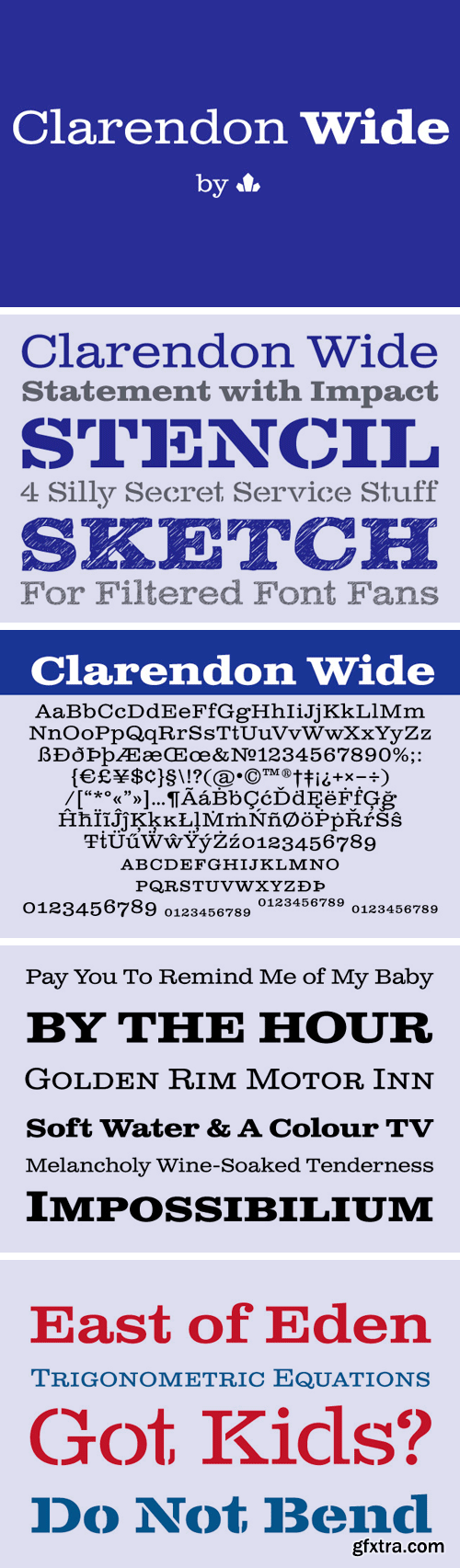 Clarendon Wide Font Family