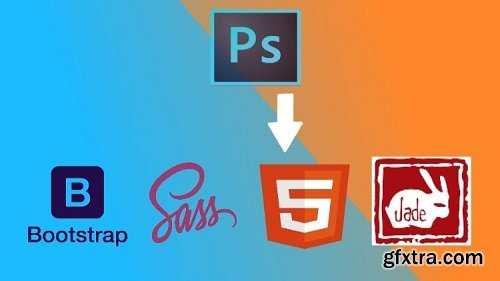 PSD to HTML using Bootstrap 3 , Sass and Jade