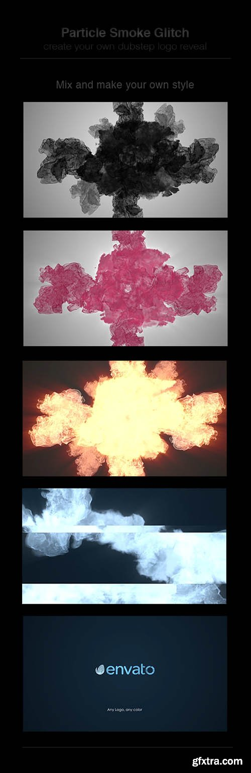 Videohive Particle Smoke Glitch - Logo Reveal 8206378