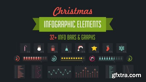 Videohive 32 Christmas Infographic Elements 9753582