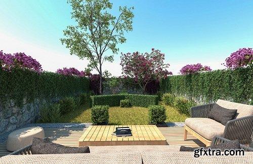 C4DVRAY - Vrayforc4d Garden Assets Collection