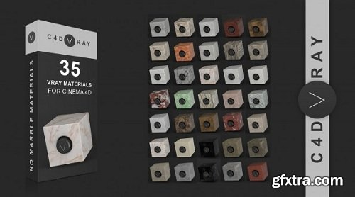C4DVRAY - 35 Marble Vrayforc4d Material Library