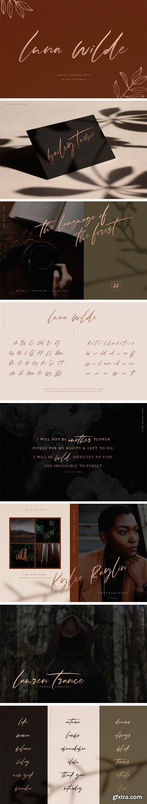 Luna Wilde Font