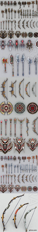 Cubebrush - 3DRT - Fantasy arms set