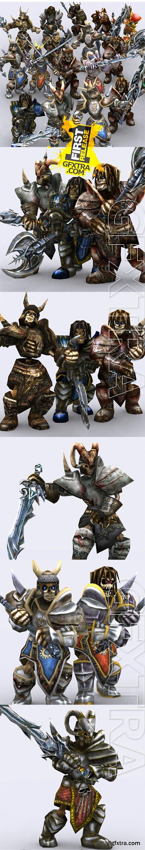 Cubebrush - 3DRT - Skeletons warriors pack