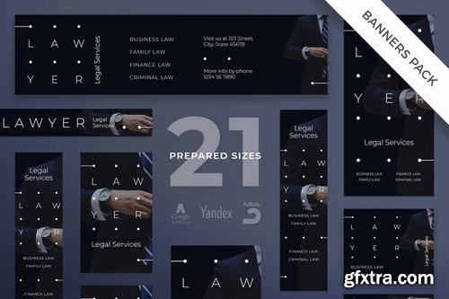Legal Services Social Media and Banner Pack Templates