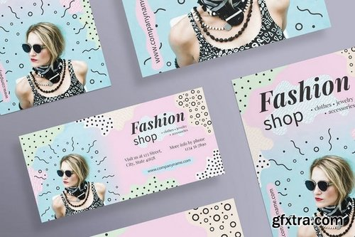 Fashion Shop Business Card, Flyer and Poster, Social Media and Banner Pack Templates