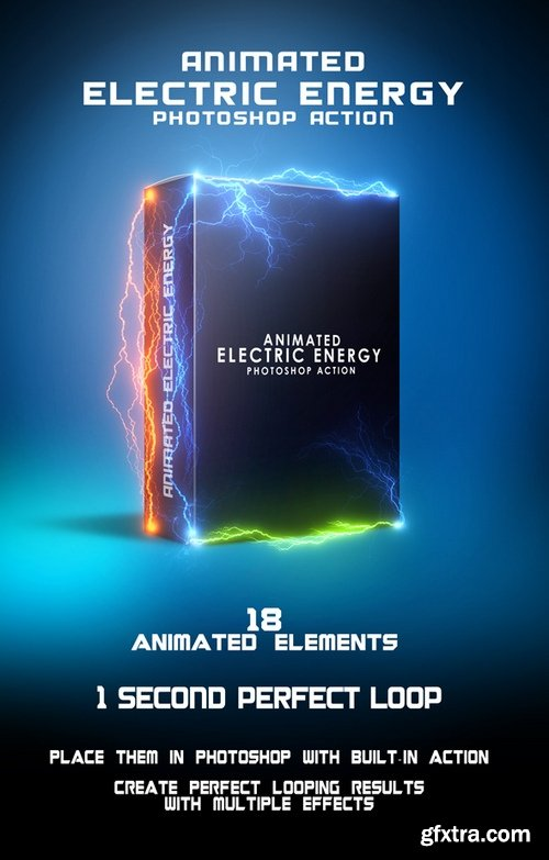 Graphicriver - 19993233 Animated Electric Energy Photoshop Action